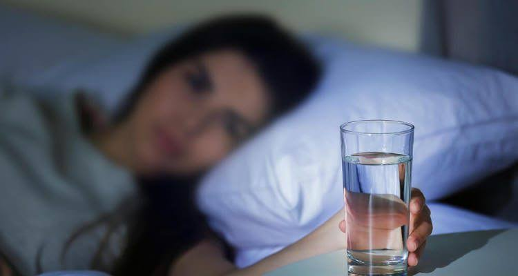 Drinking water before going to bed