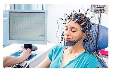 An EEG test that may be done to diagnose complex partial seizures.