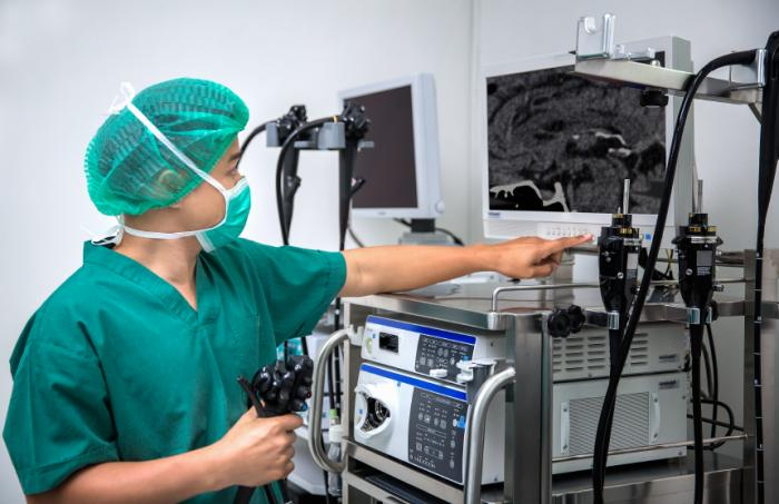 Laparoscopy involves inserting a thin tube with a camera on to investigate and possibly remove unwanted tissue.