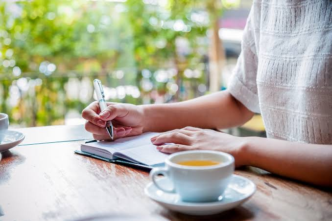 Journaling may help relieve stress.