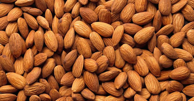 Almonds are popular as a healthful snack food.