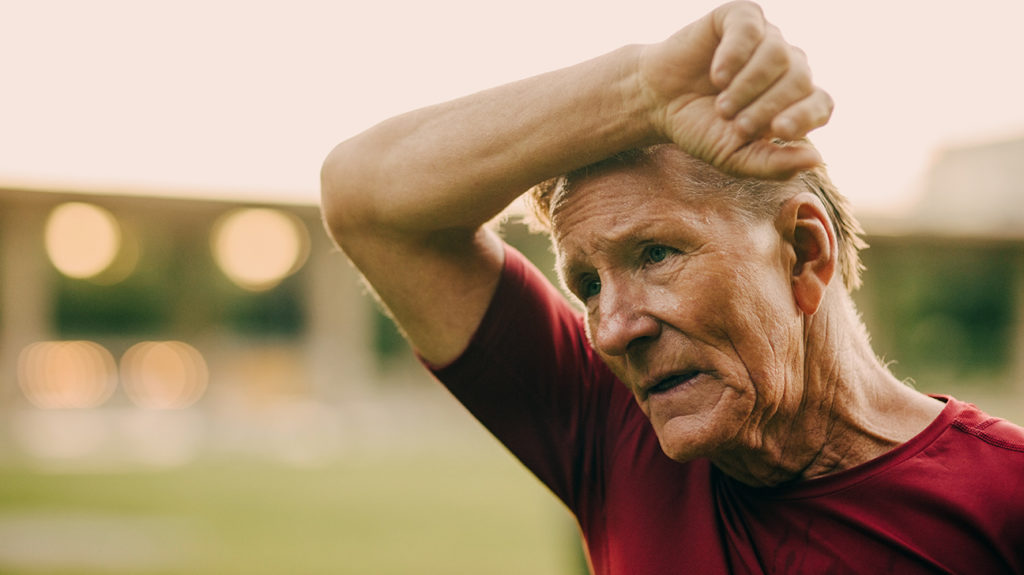 A person with atherosclerosis may experience difficulty breathing and weakness.