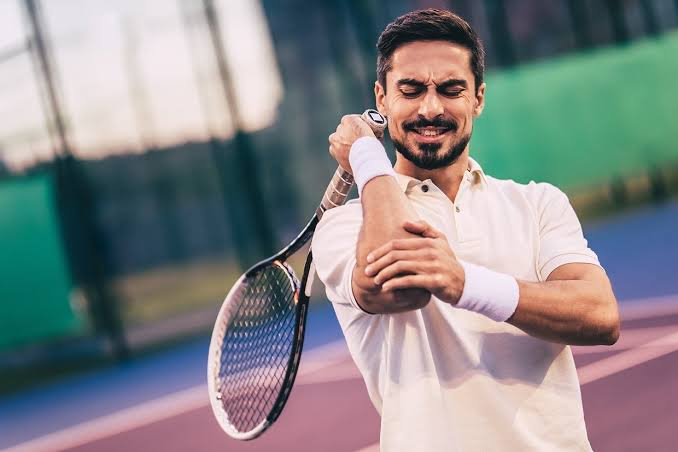 Tennis elbow affects 50 percent of tennis players.