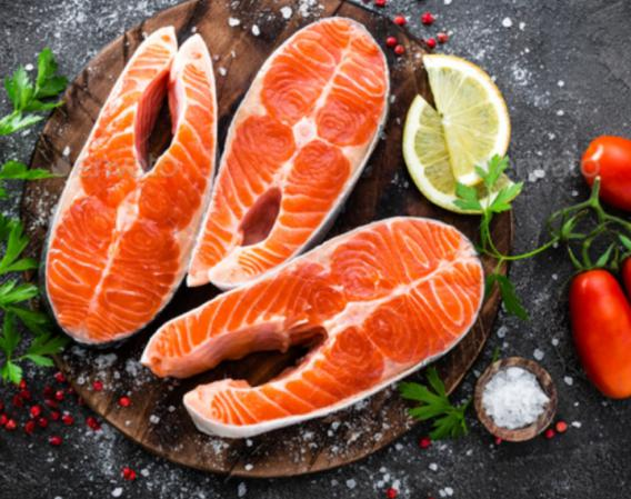 wild and farmed salmon.