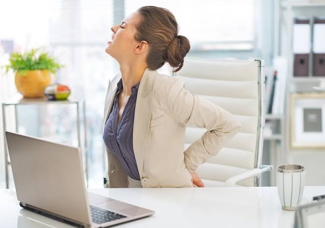 Back pain when sitting down