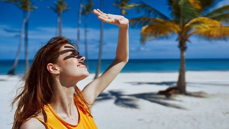 Sunlight may cause the skin to thin over time.
