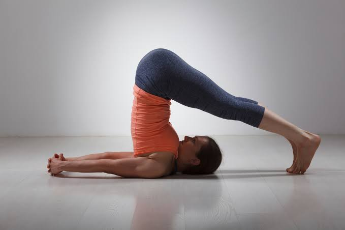 Plow Pose yoga
