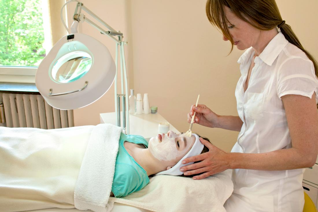A lady undergoing chemical peels