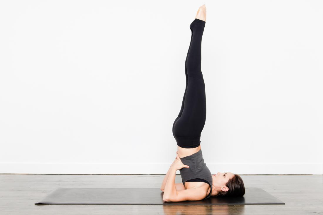 Supported shoulder stand yoga