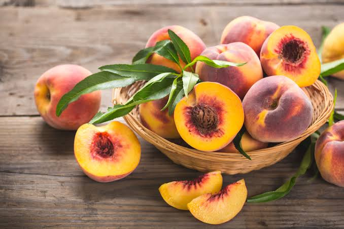 Peaches are a fuzzy fruit native to northwest China.